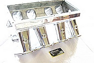 V8 Aluminum Sheet Metal Intake Manifold AFTER Chrome-Like Metal Polishing and Buffing Services