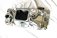 V8 Aluminum Intake Manifold AFTER Chrome-Like Metal Polishing and Buffing Services