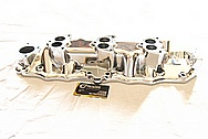 Edelbrock Aluminum Intake Manifold AFTER Chrome-Like Metal Polishing and Buffing Services