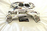 Aluminum V8 Intake Manifold AFTER Chrome-Like Metal Polishing and Buffing Services