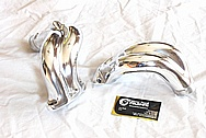 1915CC VW Bug Aluminum Intake Manifold Pieces AFTER Chrome-Like Metal Polishing and Buffing Services