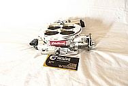 Edelbrock V8 Aluminum Carb AFTER Chrome-Like Metal Polishing and Buffing Services