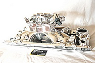 Edelbrock V8 Aluminum Intake Manifold AFTER Chrome-Like Metal Polishing and Buffing Services