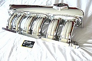 1993 - 1998 Toyota Supra 2JZ-GTE Intake Manifold AFTER Chrome-Like Metal Polishing and Buffing Services