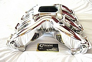 Chevrolet Camaro GM LS7 / LSX Aluminum Intake Manifold AFTER Chrome-Like Metal Polishing and Buffing Services