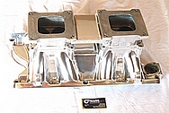Aluminum Tunnel Ram Intake Manifold AFTER Chrome-Like Metal Polishing and Buffing Services