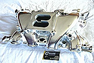 Blue Thunder Ford Cleveland 351 Aluminum V8 Intake Manifold AFTER Chrome-Like Metal Polishing and Buffing Services