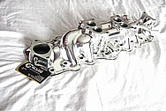 Aluminum V8 Flathead Intake Manifold AFTER Chrome-Like Metal Polishing and Buffing Services