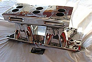 Vintake Weiand Tunnel Ram Aluminum Intake Manifold AFTER Chrome-Like Metal Polishing and Buffing Services