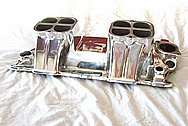 Weiand 350 Chevrolet 1940 Coupe Aluminum V8 Intake Manifold AFTER Chrome-Like Metal Polishing and Buffing Services