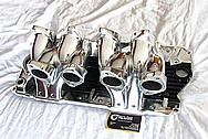 Aluminum Cross Section V8 Intake Manifold AFTER Chrome-Like Metal Polishing and Buffing Services Plus Custom Painting Services
