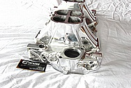 Weiand V8 Aluminum Intake Manifold AFTER Chrome-Like Metal Polishing and Buffing Services