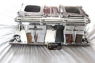 Edelbrock Street Tunnel Ram Big Block Chevy Aluminum Intake Manifold AFTER Chrome-Like Metal Polishing and Buffing Services