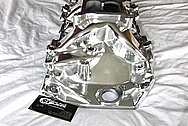 Chevy Aluminum Intake Manifold AFTER Chrome-Like Metal Polishing and Buffing Services / Restoration Services
