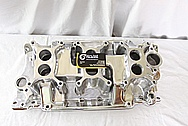 Z3X2 SBC Aluminum Intake Manifold AFTER Chrome-Like Metal Polishing and Buffing Services / Restoration Services