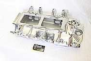 Weiand Aluminum Blower Intake Manifold AFTER Chrome-Like Metal Polishing and Buffing Services / Restoration Services