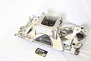 Weiand Team G Aluminum Intake Manifold AFTER Chrome-Like Metal Polishing and Buffing Services / Restoration Services