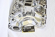 Ford Mustang Edelbrock Upper and Lower Aluminum Intake Manifold AFTER Chrome-Like Metal Polishing and Buffing Services / Restoration Services