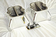 Aluminum Intake Manifold Carb Tops AFTER Chrome-Like Metal Polishing and Buffing Services / Restoration Services