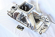 Sniper Pro-Filer Performance V8 Aluminum Intake Manifold AFTER Chrome-Like Metal Polishing and Buffing Services / Restoration Services