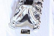 Trick Flow Aluminum V8 Intake Manifold AFTER Chrome-Like Metal Polishing and Buffing Services / Restoration Services