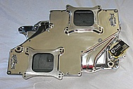 Edelbrock STR12 Aluminum V8 Intake Manifold AFTER Chrome-Like Metal Polishing and Buffing Services / Restoration Services