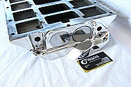 Blower / Supercharger Aluminum Intake Manifold AFTER Chrome-Like Metal Polishing and Buffing Services / Restoration Services