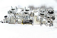 Offenhauser Three Deuce Aluminum Intake Manifold AFTER Chrome-Like Metal Polishing and Buffing Services / Restoration Services