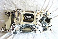 Edelbrock RPM Air Gap Aluminum Intake Manifold AFTER Chrome-Like Metal Polishing and Buffing Services / Restoration Services
