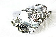 Aluminum V8 Intake Manifold AFTER Chrome-Like Metal Polishing and Buffing Services / Resoration Services