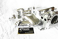 Ford Mustang Cobra Aluminum V8 Intake Manifold AFTER Chrome-Like Metal Polishing and Buffing Services / Resoration Services