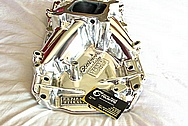Edelbrock Torker 2-0 Aluminum V8 Intake Manifold AFTER Chrome-Like Metal Polishing and Buffing Services / Resoration Services