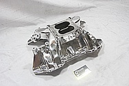 Edelbrock Performer RPM Aluminum Intake Manifold AFTER Chrome-Like Metal Polishing and Buffing Services / Restoration Services