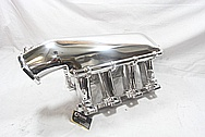 Holley EFI Aluminum Intake Manifold AFTER Chrome-Like Metal Polishing and Buffing Services / Restoration Services