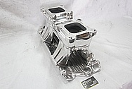 Edelbrock Tunnelram Aluminum Intake Manifold AFTER Chrome-Like Metal Polishing and Buffing Services / Restoration Services