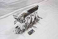 Honda 4 Cylinder RBC Aluminum Intake Manifold AFTER Chrome-Like Metal Polishing and Buffing Services / Restoration Services