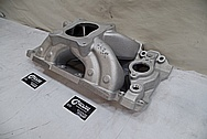 Dart Aluminum Intake Manifold BEFORE Chrome-Like Metal Polishing and Buffing Services - Aluminum Polishing Services