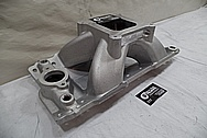 Edelbrock Aluminum Intake Manifold BEFORE Chrome-Like Metal Polishing and Buffing Services - Aluminum Polishing Services