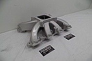 Aluminum Intake Manifold BEFORE Chrome-Like Metal Polishing and Buffing Services - Aluminum Polishing Services