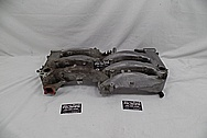 Nissan 300ZX Aluminum Intake Manifold BEFORE Chrome-Like Metal Polishing and Buffing Services - Aluminum Polishing Services