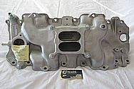 1970 Chevy Big Block V8 Vintage Aluminum Intake Manifold BEFORE Chrome-Like Metal Polishing and Buffing Services