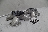 Weber Aluminum V8 Engine Spacer Adapters BEFORE Chrome-Like Metal Polishing and Buffing Services / Restoration Services - Aluminum Polishing