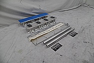 Aluminum V8 Engine Intake Manifold Kit BEFORE Chrome-Like Metal Polishing and Buffing Services / Restoration Services - Aluminum Polishing