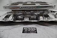 Hampton Aluminum V8 Intake Manifold BEFORE Chrome-Like Metal Polishing and Buffing Services - Aluminum Polishing