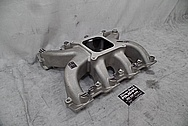 Aluminum V8 Intake Manifold BEFORE Chrome-Like Metal Polishing and Buffing Services - Aluminum Polishing Services