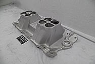 1932 Roadster Weiand Aluminum V8 Intake Manifold BEFORE Chrome-Like Metal Polishing and Buffing Services PLUS High Quality Ceramic Coating - Aluminum Polishing Services