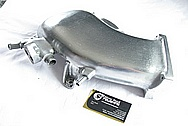 Ford Mustang Aluminum Intake Manifold BEFORE Chrome-Like Metal Polishing and Buffing Services