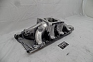 Parker 302W Aluminum V8 Intake Manifold BEFORE Chrome-Like Metal Polishing and Buffing Services - Aluminum Polishing Services