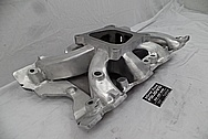Holley Strip Dominator Aluminum V8 Intake Manifold BEFORE Chrome-Like Metal Polishing and Buffing Services - Aluminum Polishing - Intake Polishing