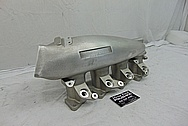 Nissan SR20DET Greddy 4 Cylinder Aluminum Intake Manifold BEFORE Chrome-Like Metal Polishing and Buffing Services - Aluminum Polishing - Intake Polishing